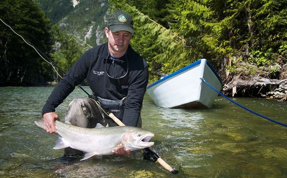 Fishing on the Dean River British Columbia Canada